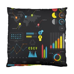 Graphic Table Symbol Vector Chart Standard Cushion Case (one Side)