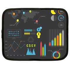 Graphic Table Symbol Vector Chart Netbook Case (XL)