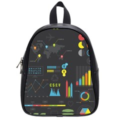 Graphic Table Symbol Vector Chart School Bags (Small)