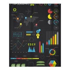 Graphic Table Symbol Vector Chart Shower Curtain 60  x 72  (Medium)