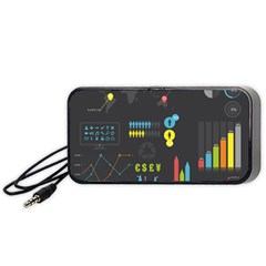 Graphic Table Symbol Vector Chart Portable Speaker (Black)