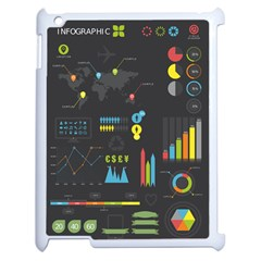 Graphic Table Symbol Vector Chart Apple iPad 2 Case (White)