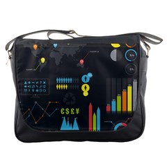 Graphic Table Symbol Vector Chart Messenger Bags