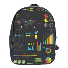 Graphic Table Symbol Vector Chart School Bags (XL)