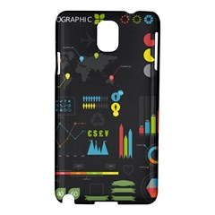 Graphic Table Symbol Vector Chart Samsung Galaxy Note 3 N9005 Hardshell Case