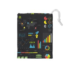 Graphic Table Symbol Vector Chart Drawstring Pouches (Medium)