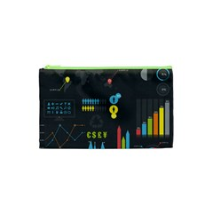 Graphic Table Symbol Vector Chart Cosmetic Bag (XS)