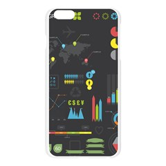 Graphic Table Symbol Vector Chart Apple Seamless iPhone 6 Plus/6S Plus Case (Transparent)
