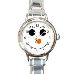 Happy Face With Orange Nose Vector File Round Italian Charm Watch
