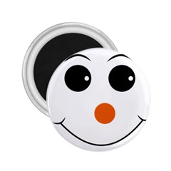 Happy Face With Orange Nose Vector File 2.25  Magnets