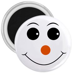 Happy Face With Orange Nose Vector File 3  Magnets