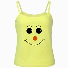 Happy Face With Orange Nose Vector File Yellow Spaghetti Tank