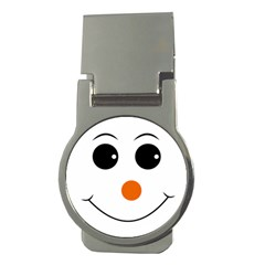Happy Face With Orange Nose Vector File Money Clips (Round)