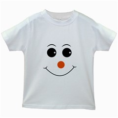 Happy Face With Orange Nose Vector File Kids White T-Shirts