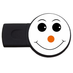 Happy Face With Orange Nose Vector File USB Flash Drive Round (1 GB)