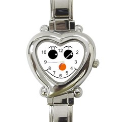 Happy Face With Orange Nose Vector File Heart Italian Charm Watch