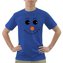Happy Face With Orange Nose Vector File Dark T-Shirt