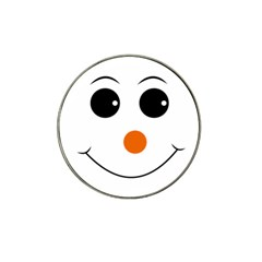 Happy Face With Orange Nose Vector File Hat Clip Ball Marker (10 pack)