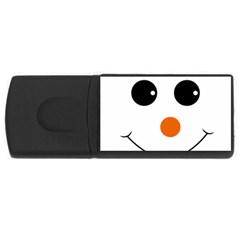 Happy Face With Orange Nose Vector File USB Flash Drive Rectangular (4 GB)