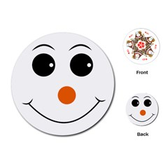 Happy Face With Orange Nose Vector File Playing Cards (Round)
