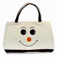 Happy Face With Orange Nose Vector File Basic Tote Bag