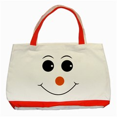 Happy Face With Orange Nose Vector File Classic Tote Bag (Red)