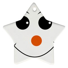 Happy Face With Orange Nose Vector File Star Ornament (Two Sides)