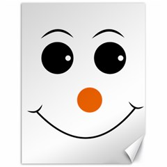 Happy Face With Orange Nose Vector File Canvas 18  x 24