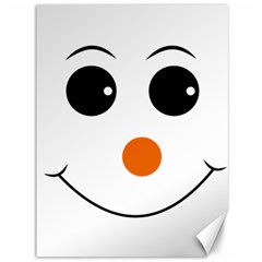 Happy Face With Orange Nose Vector File Canvas 36  x 48
