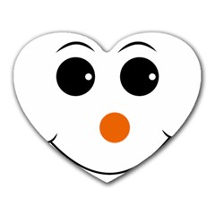 Happy Face With Orange Nose Vector File Heart Mousepads