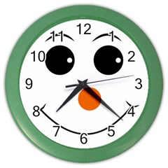 Happy Face With Orange Nose Vector File Color Wall Clocks