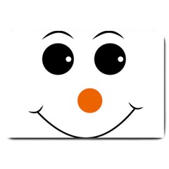 Happy Face With Orange Nose Vector File Large Doormat
