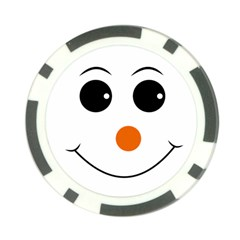Happy Face With Orange Nose Vector File Poker Chip Card Guard