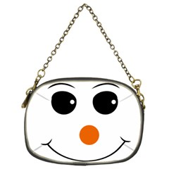 Happy Face With Orange Nose Vector File Chain Purses (Two Sides)