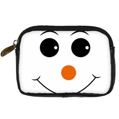 Happy Face With Orange Nose Vector File Digital Camera Cases
