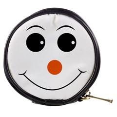 Happy Face With Orange Nose Vector File Mini Makeup Bags