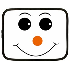 Happy Face With Orange Nose Vector File Netbook Case (XL)