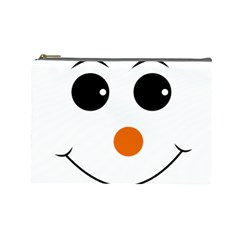Happy Face With Orange Nose Vector File Cosmetic Bag (Large)