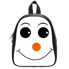 Happy Face With Orange Nose Vector File School Bags (Small)