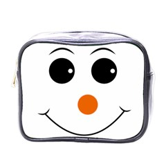 Happy Face With Orange Nose Vector File Mini Toiletries Bags