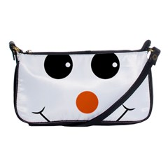 Happy Face With Orange Nose Vector File Shoulder Clutch Bags