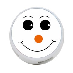 Happy Face With Orange Nose Vector File 4-Port USB Hub (One Side)