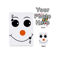 Happy Face With Orange Nose Vector File Playing Cards 54 (Mini)