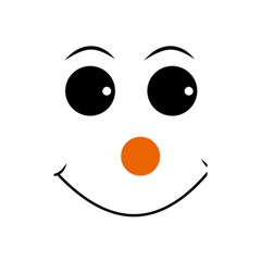 Happy Face With Orange Nose Vector File Shower Curtain 48  x 72  (Small)