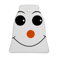 Happy Face With Orange Nose Vector File Ornament (Bell)