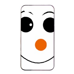Happy Face With Orange Nose Vector File Apple iPhone 4/4s Seamless Case (Black)