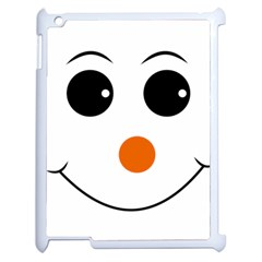 Happy Face With Orange Nose Vector File Apple iPad 2 Case (White)
