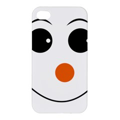 Happy Face With Orange Nose Vector File Apple iPhone 4/4S Hardshell Case