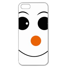 Happy Face With Orange Nose Vector File Apple Seamless iPhone 5 Case (Clear)
