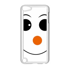 Happy Face With Orange Nose Vector File Apple iPod Touch 5 Case (White)
